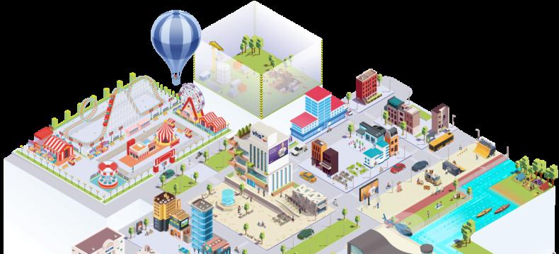 Stadt / Land / DatenFluss