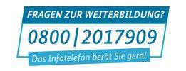 Infotelefon zur Weiterbildung 0800 2017909